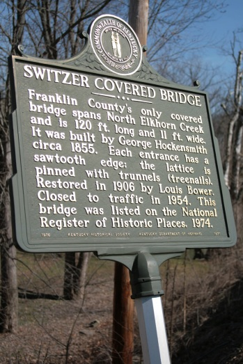 Switzer Covered Bridge Sign