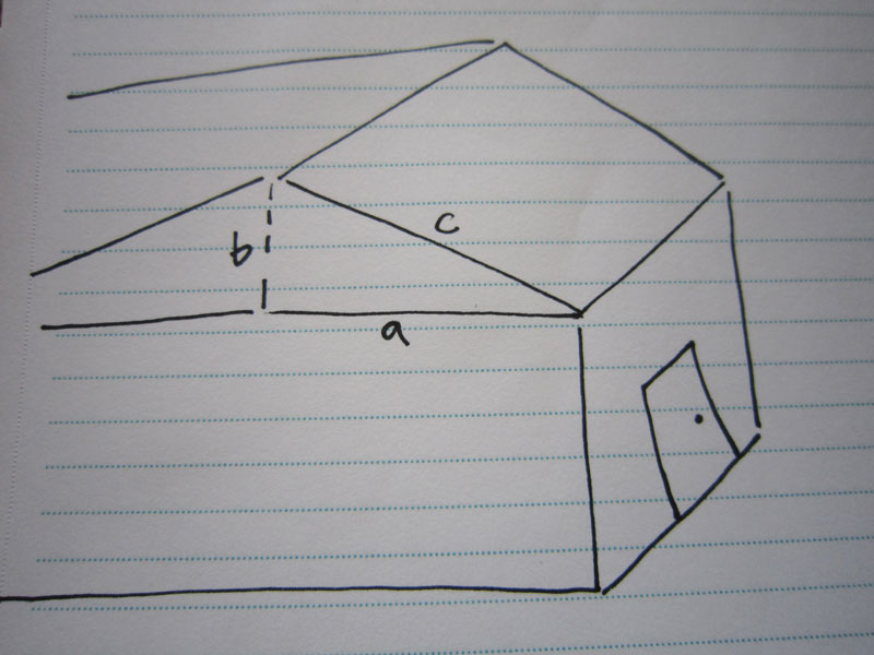 Calculate roof surface area rain runoff for a rain for How to figure out roof square footage