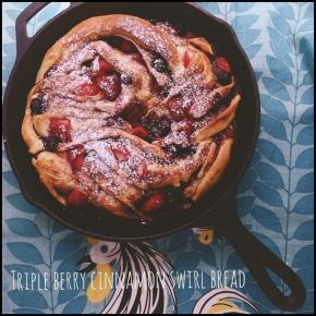 Triple Berry Cinnamon Swirl Bread