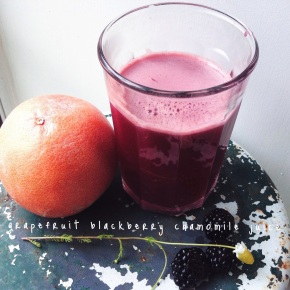 Juicing Week: Grapefruit Blackberry Chamomile Tea Juice
