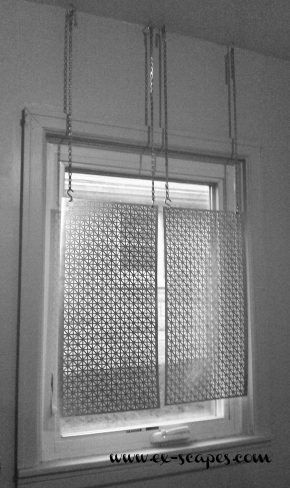 DIY Metal Curtain Panel