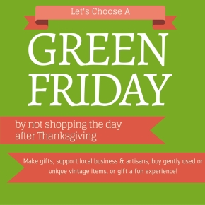 A Green Friday Instead of Black Friday